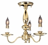 Framburg Lighting - Jamestown Flush Mounts and Semi-Flush Mounts in Polished Brass - FBG-9133