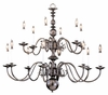 Framburg Lighting - Jamestown Foyer Chandeliers in Mahogany Bronze - FBG-9135