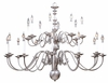 Framburg Lighting - Jamestown Foyer Chandeliers in Satin Pewter - FBG-9138