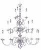 Framburg Lighting - Jamestown Foyer Chandeliers in Satin Pewter - FBG-9148