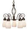Framburg Lighting - Katarina Dinette Chandeliers in Roman Bronze w/ Ruby Crystal - FBG-4236