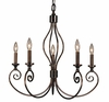 Framburg Lighting - Katarina Dining Chandeliers in Roman Bronze w/ Ruby Crystal - FBG-4235