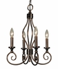 Framburg Lighting - Katarina Mini Chandeliers in Roman Bronze w/ Ruby Crystal - FBG-4234