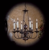 Framburg Lighting (7306) Six Light Chandelier from the Kensington Collection