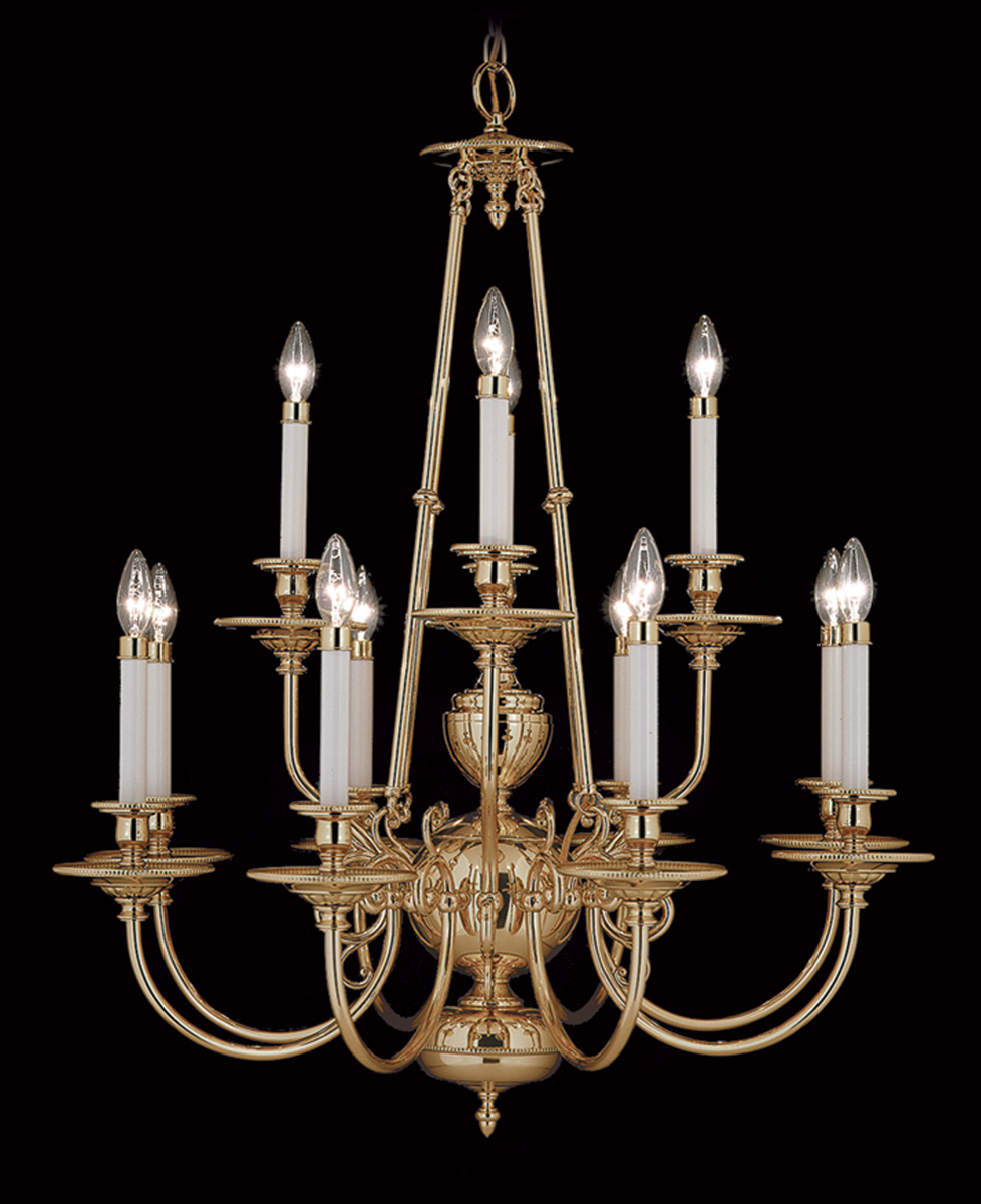 Framburg Lighting (7272) 12-Light Kensington Dining Chandelier