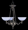 Framburg Lighting (8403) Three Light Chandelier from the Napoleonic Collection