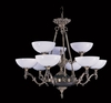 Framburg Lighting (8409) Nine Light Chandelier from the Napoleonic Collection