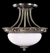 Framburg Lighting - Napoleonic Flush Mounts and Semi-Flush Mounts in French Brass - FBG-8397