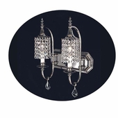 Framburg Lighting - Nocturne Bath and Sconces in Polished Silver - FBG-2042