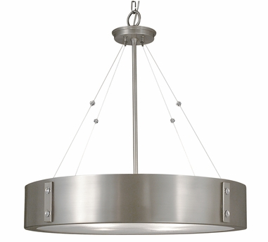 Framburg Lighting - Oracle Dining Chandeliers in Satin Pewter w/ Polished Nickel Accents - FBG-5395