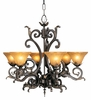 Framburg Lighting (1125) Six Light Chandelier from the Centennial Collection