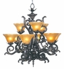 Framburg Lighting (1129) Nine Light Chandelier from the Centennial Collection