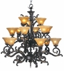 Framburg Lighting (1130) Fifteen Light Chandelier from the Centennial Collection