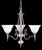 Framburg Lighting - Provence Dinette Chandeliers in Satin Pewter/White - FBG-9423