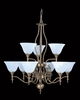 Framburg Lighting (9429) Nine Light Chandelier from the Black Forest Collection