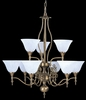 Framburg Lighting - Provence Dining Chandeliers in Harvest Bronze/White Marble - FBG-9429