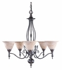 Framburg Lighting (9425) Five Light Chandelier from the Black Forest Collection