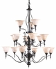 Framburg Lighting - Provence Foyer Chandeliers in Mahogany Bronze/Amber Marble - FBG-9435