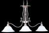 Framburg Lighting - Provence Island Chandeliers in Satin Pewter/White - FBG-9438