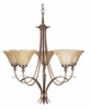 Framburg Lighting (1485) Five Light Chandelier from the Black Forest Collection