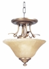 Framburg Lighting (1487) Two Light Semi-Flush Mount from the Black Forest Collection