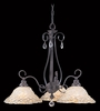 Framburg Lighting (9728) Three Light Chandelier from the Liebstraum Collection