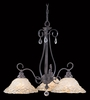 Framburg Lighting (9728) 3-Light Liebestraum Dinette Chandelier