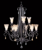 Framburg Lighting (9729) Nine Light Chandelier from the Liebstraum Collection