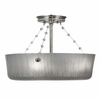 Framburg Lighting - River North Flush Mounts and Semi-Flush Mounts in Polished Silver - FBG-1037