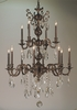 Framburg Lighting (5599) Twelve Light Chandelier from the Czarina Collection