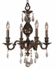 Framburg Lighting (5594) Four Light Chandelier from the Czarina Collection