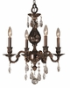 Framburg Lighting (5594) 4-Light Czarina Mini Chandelier