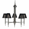 Framburg Lighting - Sophia Dining Chandeliers in Polished Silver  w/ Ebony Accents - FBG-1015