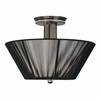 Framburg Lighting - Sophia Flush Mounts and Semi-Flush Mounts in Polished Silver  w/ Ebony Accents - FBG-1016