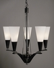 Framburg Lighting - Syzygy Dining Chandeliers in Ebony w/ Polished Nickel Accents - FBG-8835