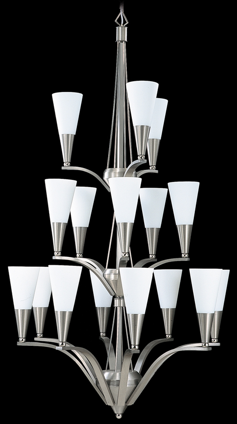 Framburg Lighting - Syzygy Foyer Chandeliers in Brushed Stainless/Polished Nickel - FBG-8836