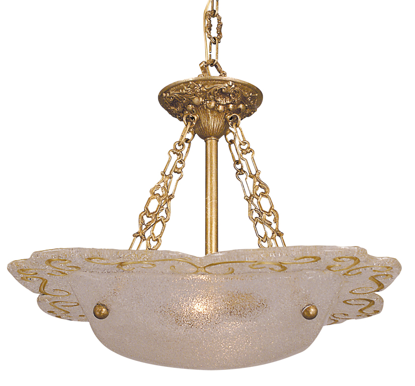 Framburg Lighting - Veronique Mini Chandeliers in Bronzed Gold Leaf - FBG-4001