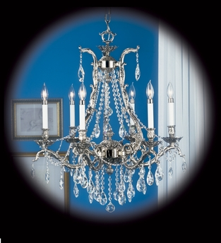 Framburg Lighting (8426) 6-Light Czarina Dining Chandelier