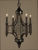 Framburg Lighting (5074) Four Light Chandelier from the Princessa Collection