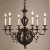Framburg Lighting (1886) Six Light Chandelier from the Kensington Collection