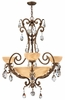 Fredrick Ramond (Barcelona FR44100FRM) 3 Light Chandelier shown in French Marble Finish