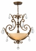 Fredrick Ramond (Barcelona FR44105FRM) 3 Light Chandelier shown in French Marble Finish