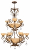 Fredrick Ramond (Barcelona FR44107FRM) 9 Light Chandelier shown in French Marble Finish