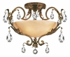Fredrick Ramond (Barcelona FR44109FRM) 4 Light Semi-Flush Mount shown in French Marble Finish