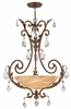 Fredrick Ramond (Barcelona FR44103FRM) 4 Light Inverted Foyer Fixture shown in French Marble Finish
