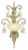 Fredrick Ramond (FR44110SLF) Barcelona Single Light Wall Sconce in Silver Leaf with Natural Alabaster Shade