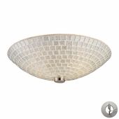 ELK Lighting (10139/2SLV-LA) Fusion 12 Inch Semi-Flush Mount with Recessed Lighting Adapter