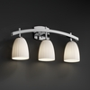 Justice Design (FSN-8593) Archway 3-Light Bath Bar from the Fusion Collection
