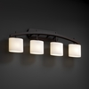 Justice Design (FSN-8594) Archway 4-Light Bath Bar from the Fusion Collection