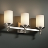 Justice Design (FSN-8533) Deco 3-Light Bath Bar from the Fusion Collection